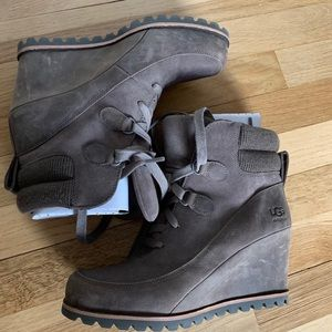 UGG Kriston Waterproof Wedge Bootie